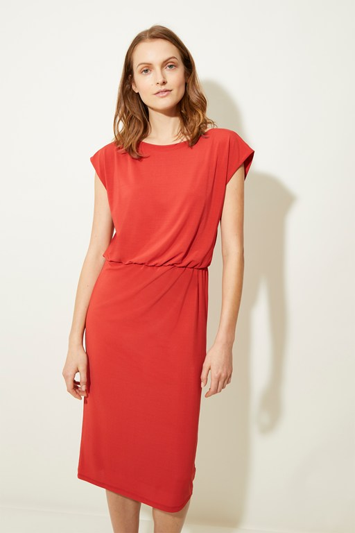 ice jersey cap sleeve dress