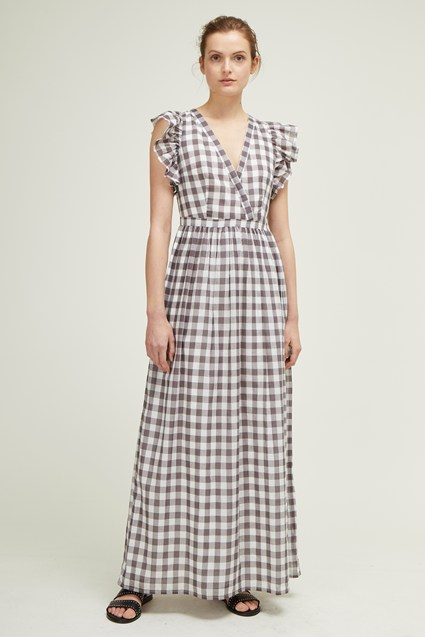 Gem Gingham Maxi Dress