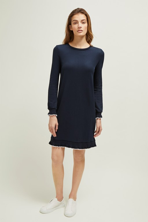 pia piquet round neck dress