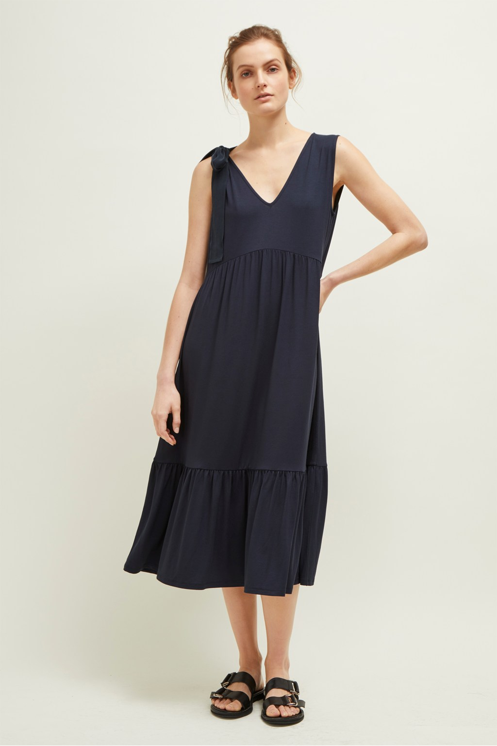 Melrose Mix V Neck Dress Women Great Plains