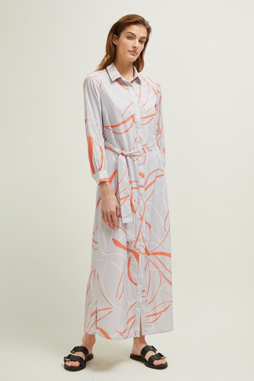 ava abstract shirt dress
