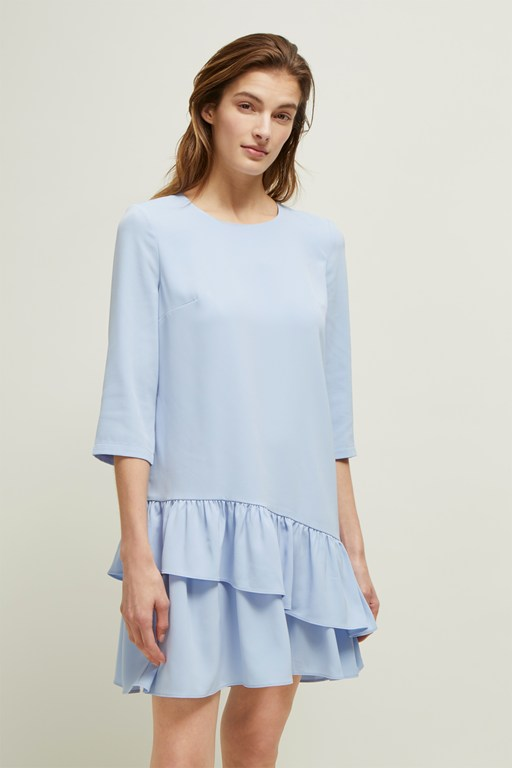 louis crepe round neck dress