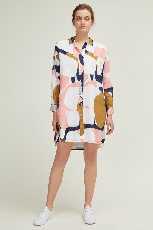 sarasota abstract shirt dress