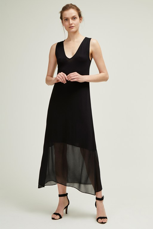 leighton mix v neck dress