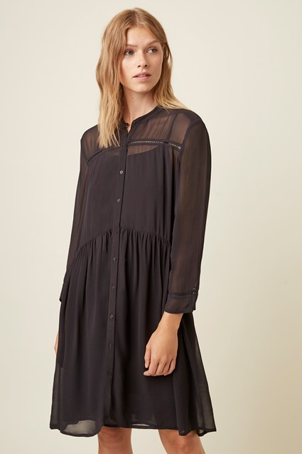 Bardot Lace Button Through Dress