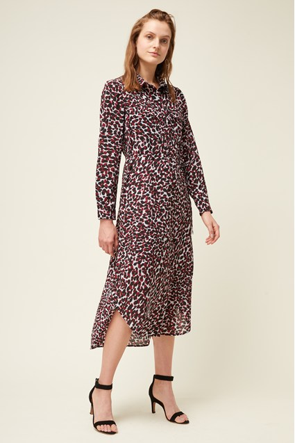 Cara Leopard Print Shirt Dress