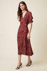 Celeste Sketch Wrap Dress