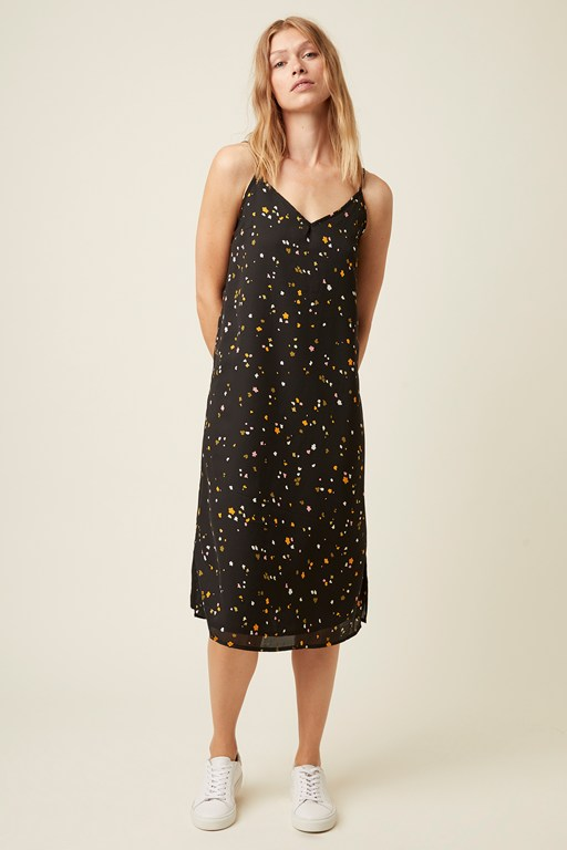 abstract fleur strappy cami dress