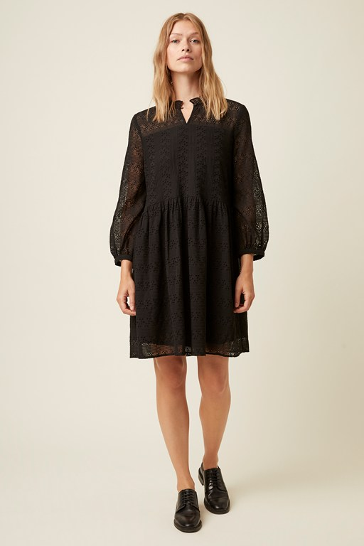monmarte broderie high neck dress