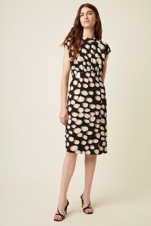 margot spot sleeveless dress