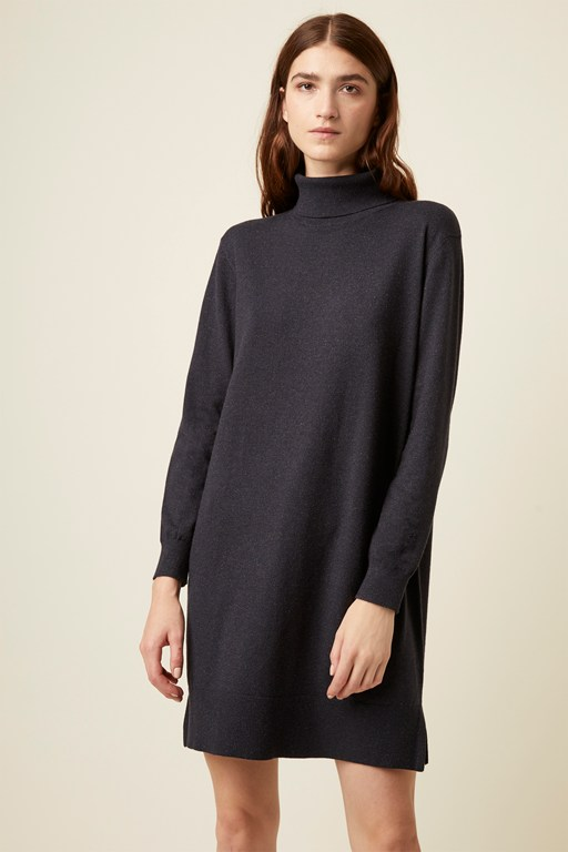 moselle knits roll neck dress
