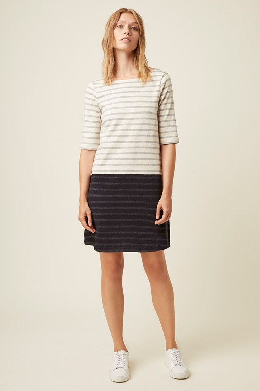 leonie contrast stripe dress