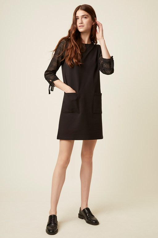monmarte jersey 3/4 sleeve dress