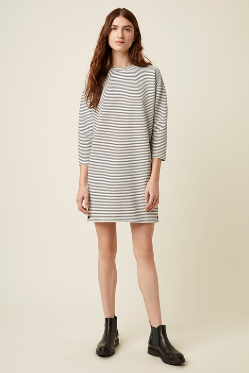 orla ottoman stripe long sleeve dress