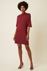 Amelie Jersey High Neck Dress