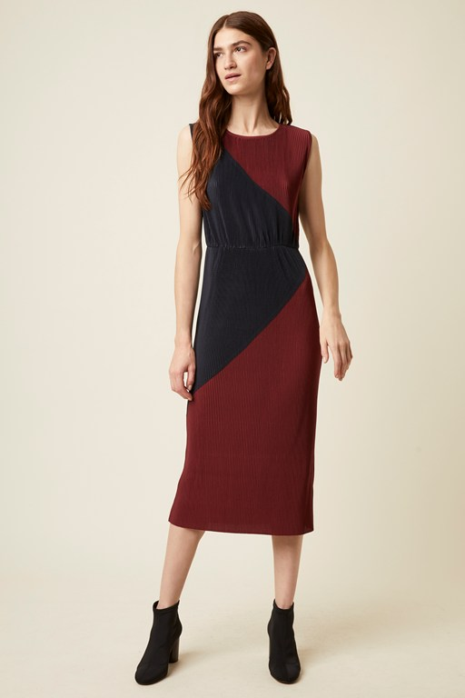 marnie jersey sleeveless round neck dress