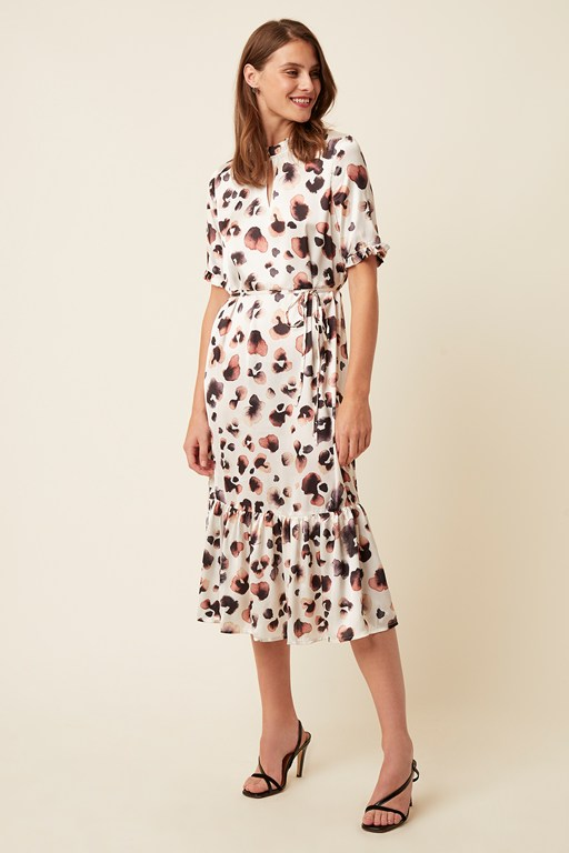 wild floral high neck dress