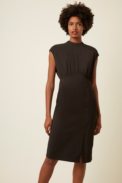 Margot Sleeveless High Neck Dress