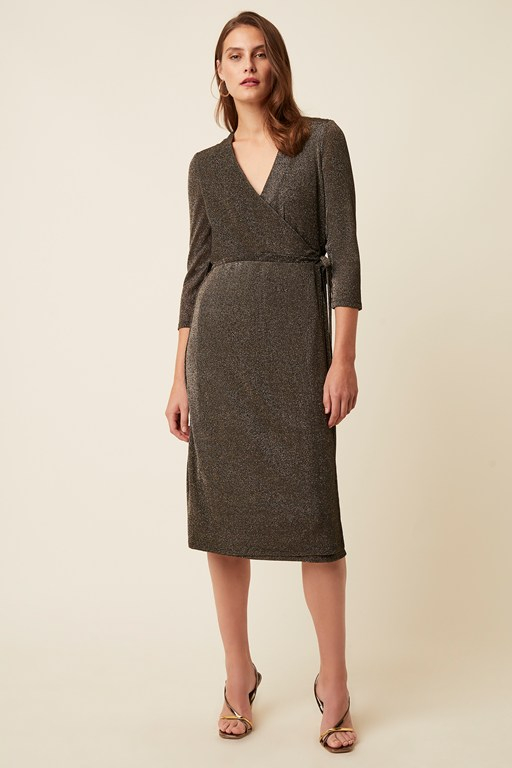 ivy jersey v neck wrap dress