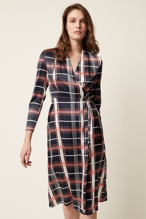 wallace check dress