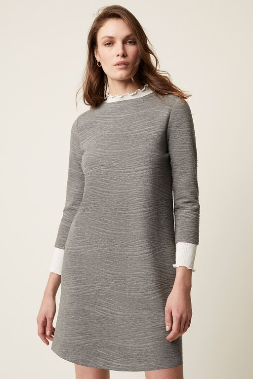 pheobe textured jersey dress