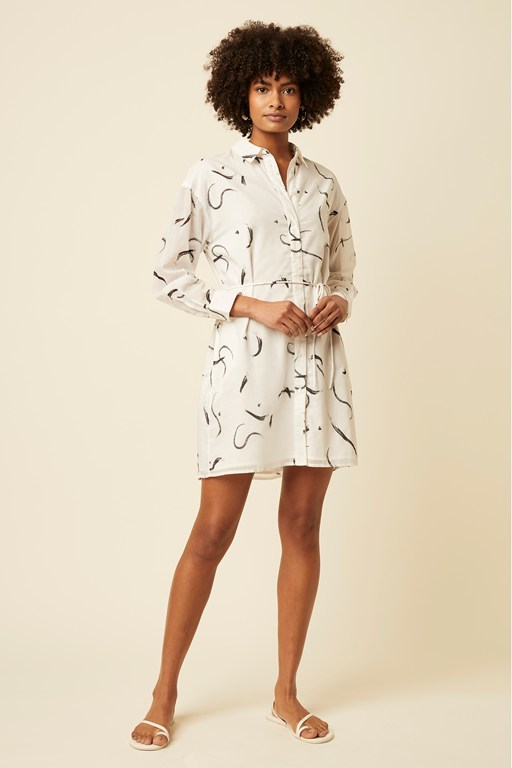 bianca brush shirt dress