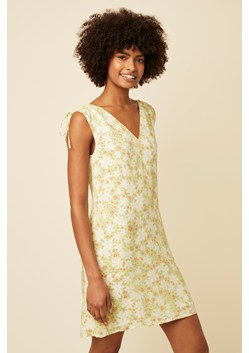 Speckle Blossom V Neck Dress