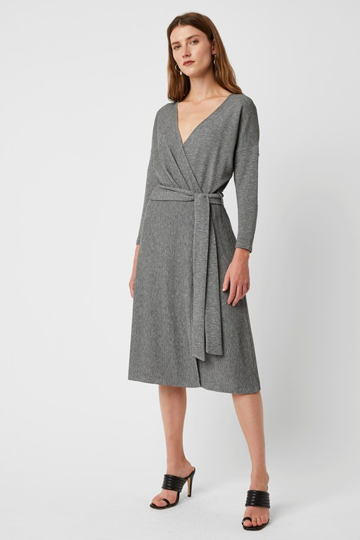 clara ottoman wrap dress