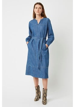 Malvern Denim Belted Dress