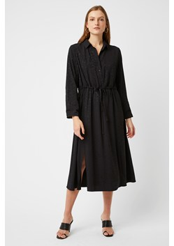 Peppy Jacquard Collared Shirt Dress