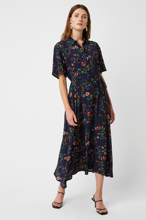 colette flower shirt dress