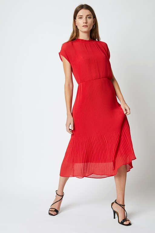 salma pleated midi dress