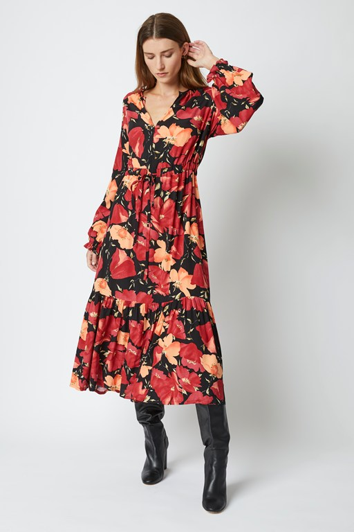 astrana floral long sleeve dress