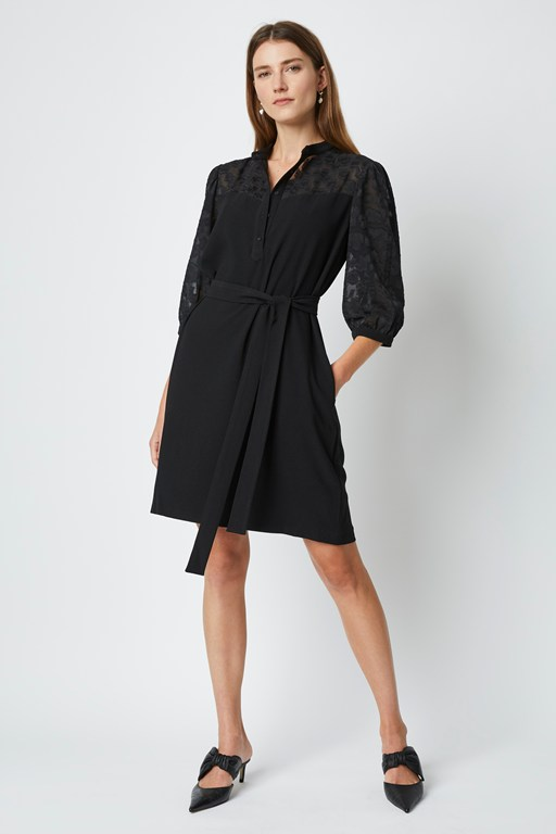leo lace mix shirt dress