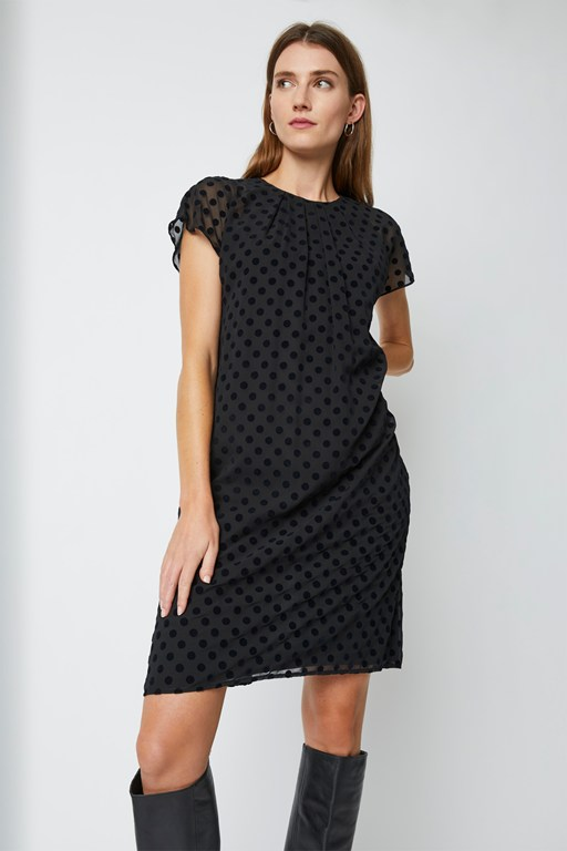 solar spot short sleeve dress