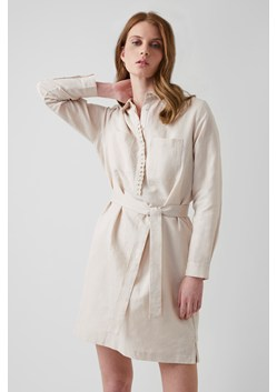 Milos Linen Blend Shirt Dress