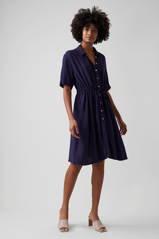 tilly embroidered shirt dress