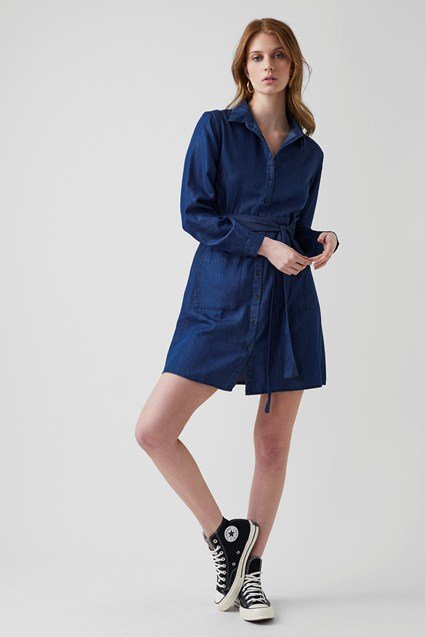 Core Chambray Shirt Dress