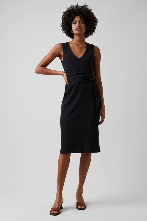 rere jersey belted dress