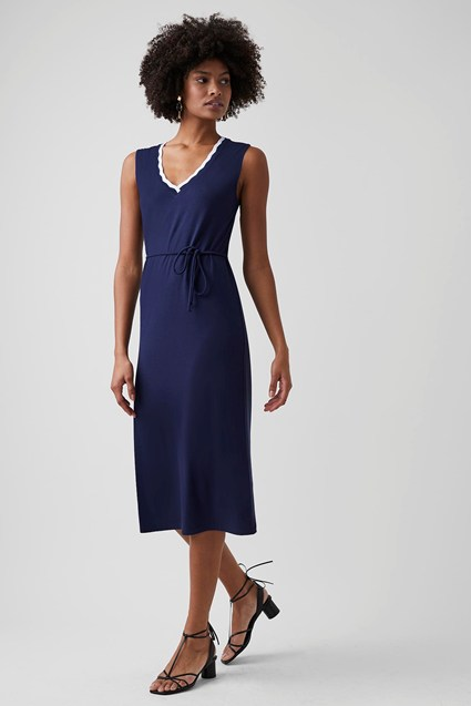 Winona Jersey V Neck Dress