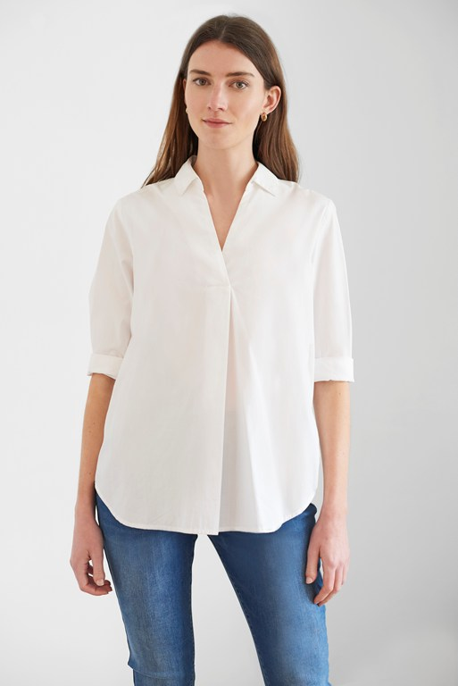 weekend shirting organic pop-over shirt