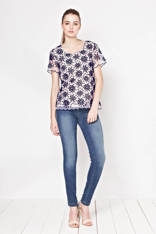daisy maisie embroidered top