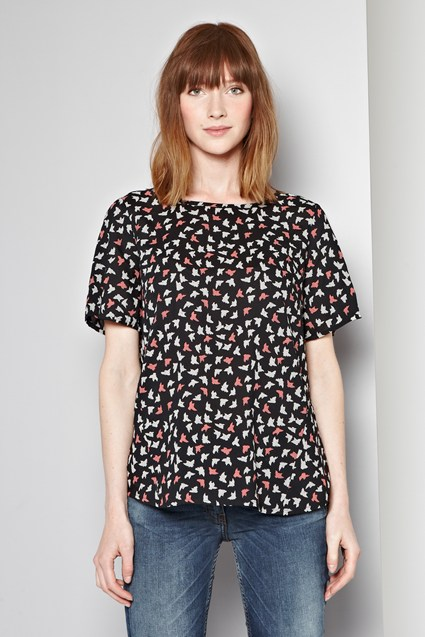 Fly Away Printed Top