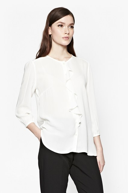 Courtney Crepe Frill Shirt