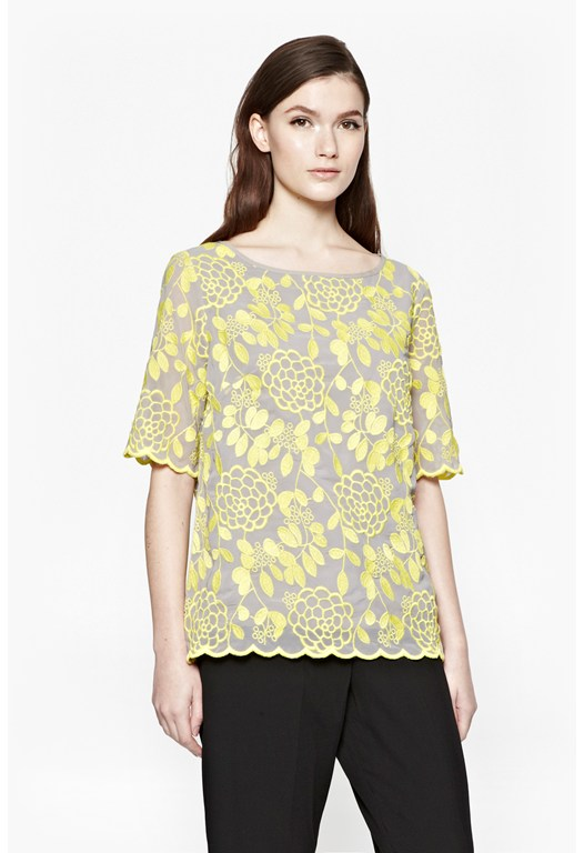 Chrysanthemum Broderie Top