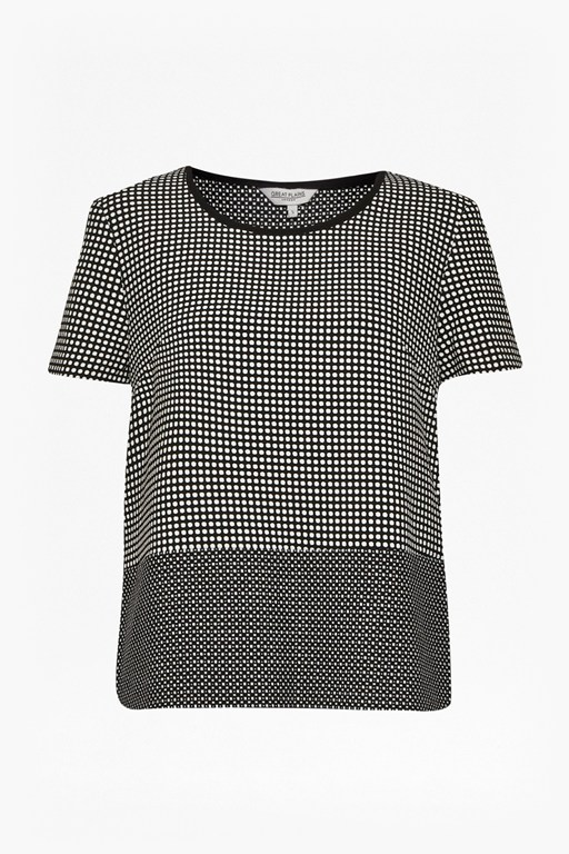 polka polka printed top