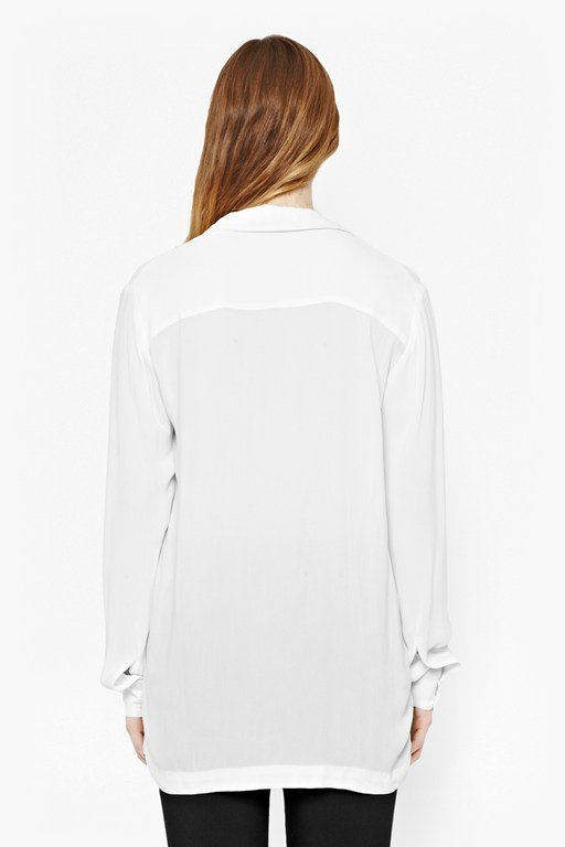 Complete the Look Cara Crepe Collared Blouse