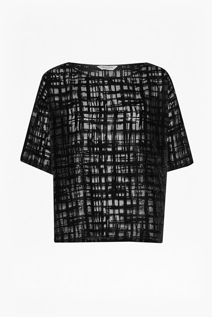 Devore Sheer Scribble Top