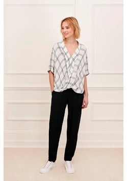 Whistler Check Cross Over Blouse