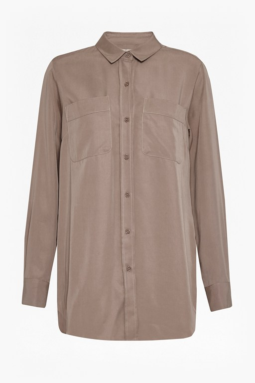 Complete the Look Tara Tencel Long Sleeve Shirt